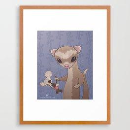 Fizzy The Ferret Framed Art Print