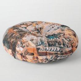 Set on You | Santorini, Greece Floor Pillow