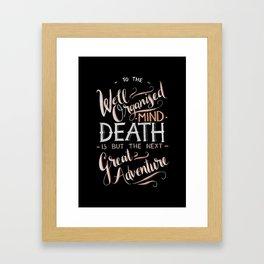 Well Organised Mind - Black Framed Art Print