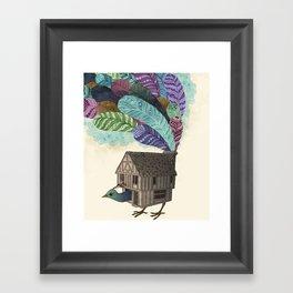 birdhouse revisited Framed Art Print