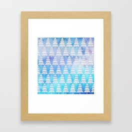 Geometric Christmas Trees 4 Framed Art Print