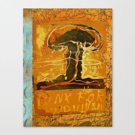 Punx For Survival Canvas Print