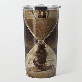 Sands of Time ... Memento Mori - Sepia Travel Mug