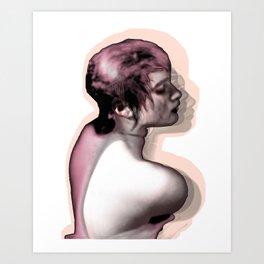 Natasha Pink Hues Art Print