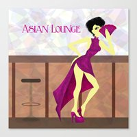 asian Canvas Prints featuring Asian Lounge by Alex Moreno