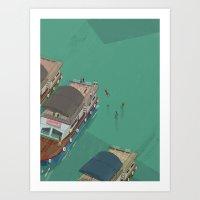 indonesia Art Prints featuring Toba - Indonesia by Joneta Witabora