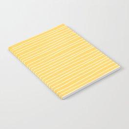 Sunshine Yellow Pinstripes Notebook