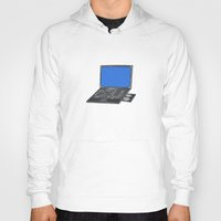 notebook Hoodies featuring LAPTOP NOTEBOOK NETBOOK by Sofia Youshi