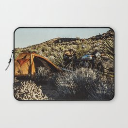 Moto camping in the desert Laptop Sleeve