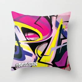 PAGER Mural Abstract Royal Stain Throw Pillow