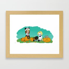 Chey & Cry Pumpkin Fest Framed Art Print