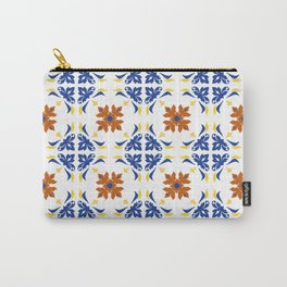 Talavera Floral Tiles Pattern Carry-All Pouch