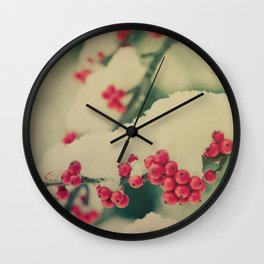 Winter Berry Wall Clock