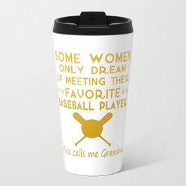 BASEBALL GRANDMA Travel Mug
