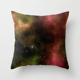 Galaxy Nebula Starfield Backgroun Throw Pillow