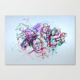 Jazzy Jumble Canvas Print