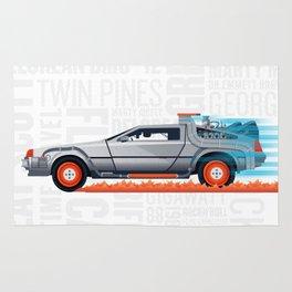 Great Scott! Back to the Future Delorean Print Rug