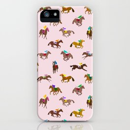 Off to the Horse Races (Pink) iPhone Case