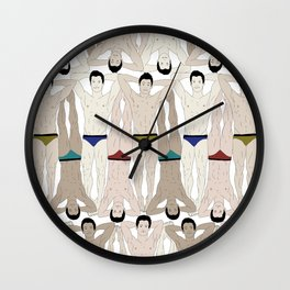 Swimmers and Speedos Wall Clock