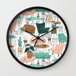 Retro Mid Mod Living Room Wall Clock
