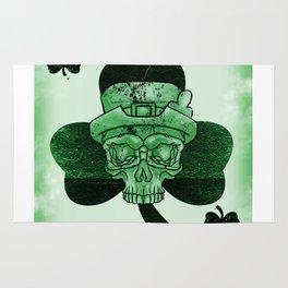 Skull Ace Card Irish luck St. Patricks Day Rug