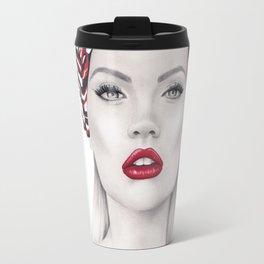 Fashion Illustration*Fashion girl* Travel Mug