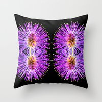 transparent Throw Pillows featuring Transparent Dreams  by Louisa Catharine Photography