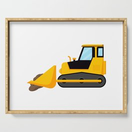 Backhoe for kids loaded with earth Serving Tray