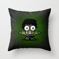 hulk Throw Pillows featuring Hulk by Thorin