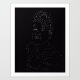 Lineart Ella Fitzgerald Art Print