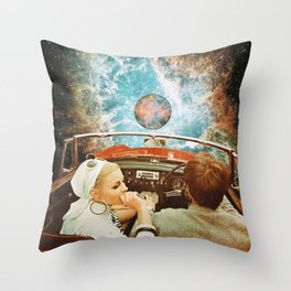 Space Riders Throw Pillow