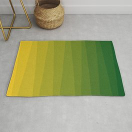 Shades of Grass - Line Gradient Pattern between Lime Green and Bright Yellow Rug