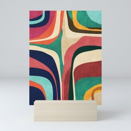 Impossible contour map Mini Art Print