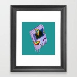 Gameboy Melt Framed Art Print