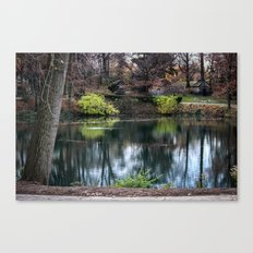 Cemetery Reflections Canvas Print