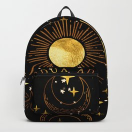 Per Ardua Ad Astra |Sun, Moon and Stars |Divine Witchy Aesthetic Print Backpack