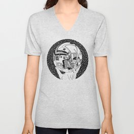 Escher - Self-portrait on a sphere Unisex V-Neck