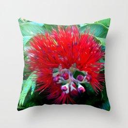 Liko Lehua - Budding Lehua Blossom Throw Pillow