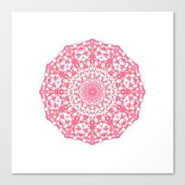 Mandala 12 / 4 eden spirit ruby red Canvas Print