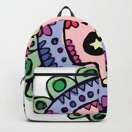 Flowery Skull Backpack