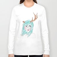 antler Long Sleeve T-shirts featuring Antler by okayleigh