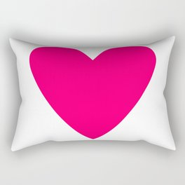 Neon Pink Heart Rectangular Pillow