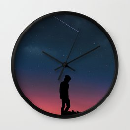 Lonely Man Manipulation Wall Clock