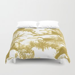 Toucans and Bromeliads - Spicy Mustard Duvet Cover