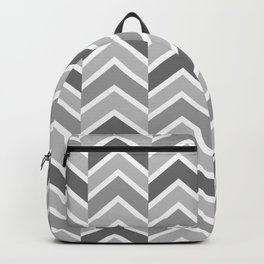 Gray Tile Chevron Arrow Backpack