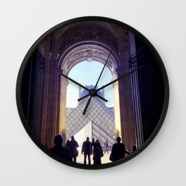 Into the Pyramid du Louvre, Paris Wall Clock