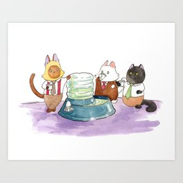 The Water Cooler Art Print
