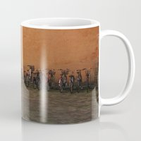 bikes Mugs featuring bikes by Bg portretti