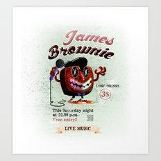 James BROWNIE! Art Print