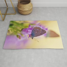 Blue winged butterfly Rug